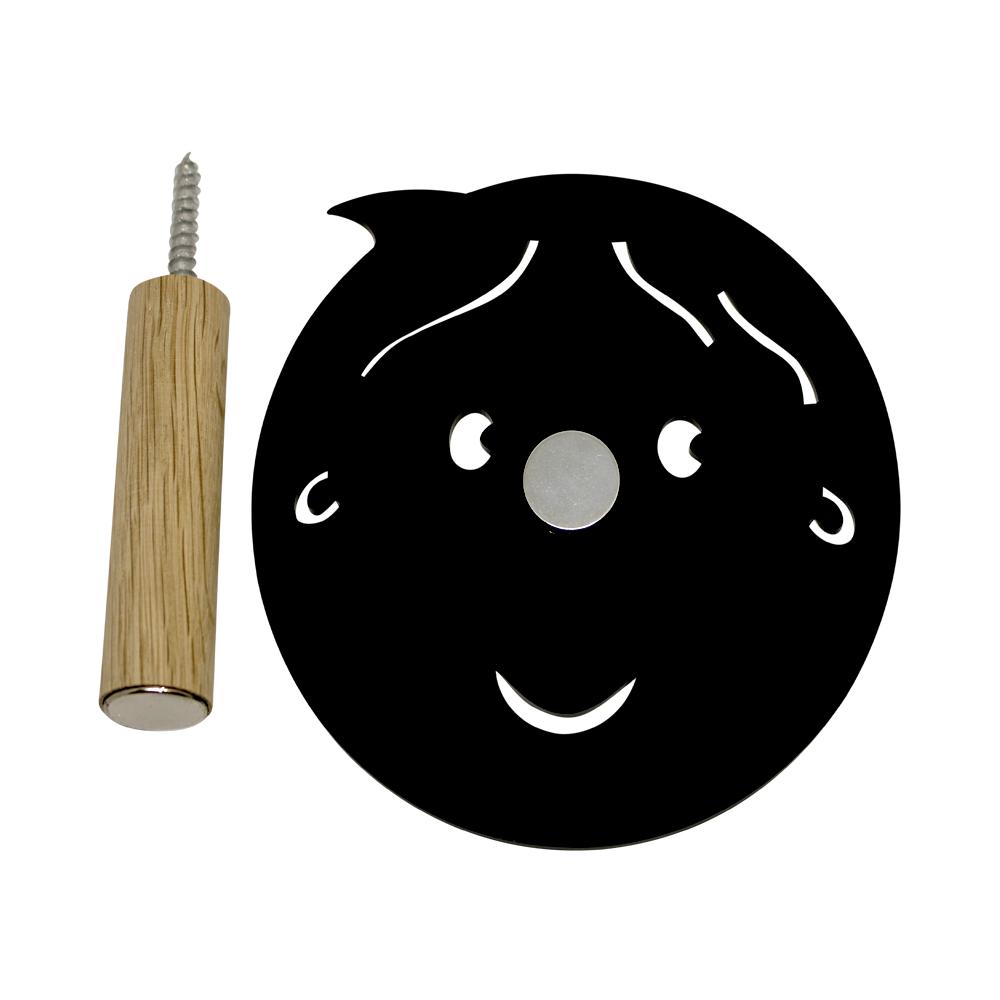 Knage - dreng med hul i næsen - sort
