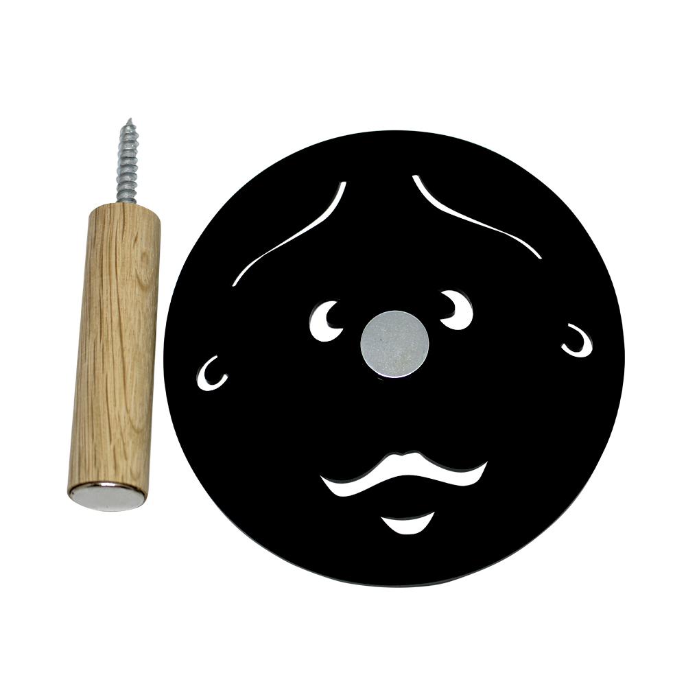 Knage - far uden hul i næsen - sort