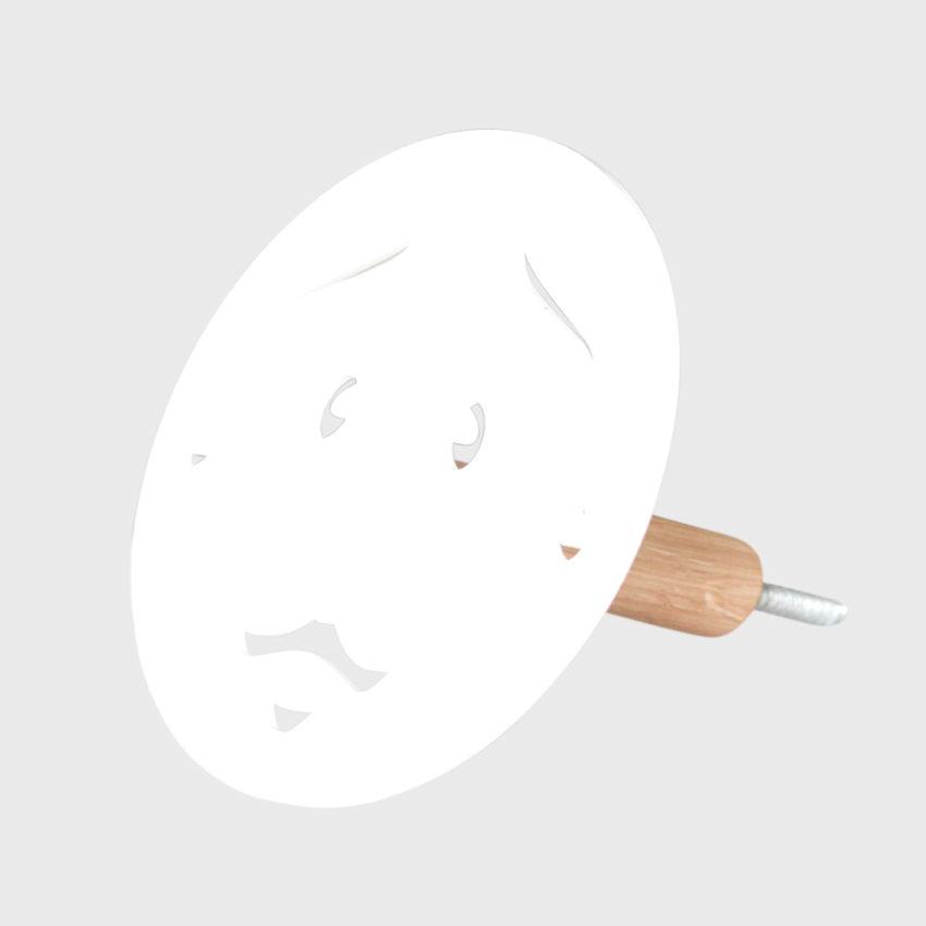 Knage - far uden hul i næsen - hvid