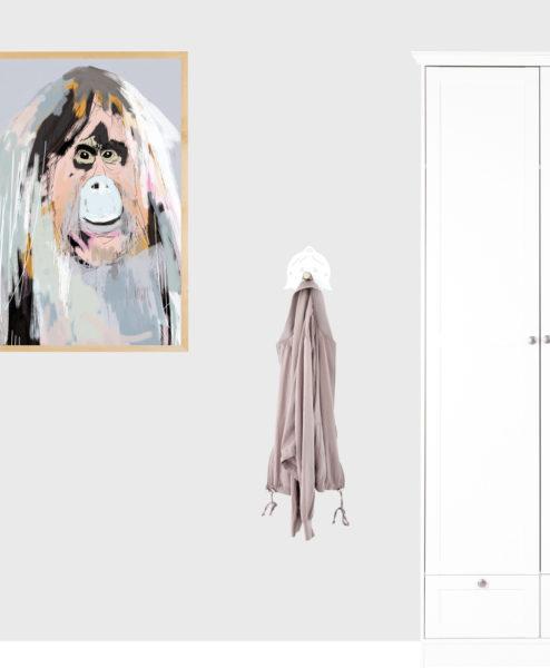 Knage - mor med hul i næsen - hvid