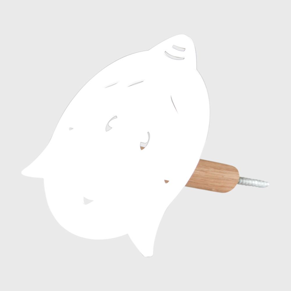 Knage - mor uden hul i næsen - hvid