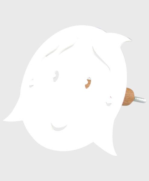Knage - pige uden hul i næsen - hvid