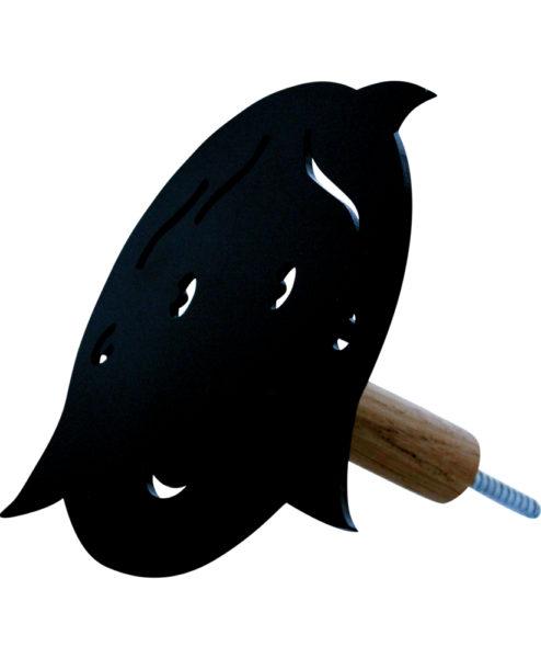 Knage - pige uden hul i næsen - sort