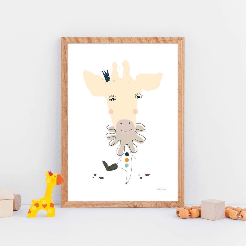 Giraf børneplakat