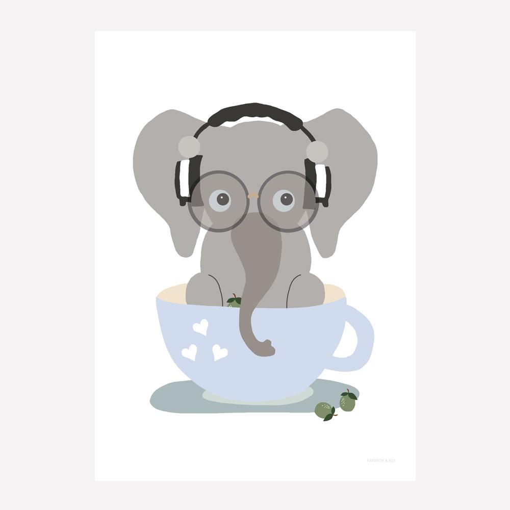 Elefant dreng børneplakat