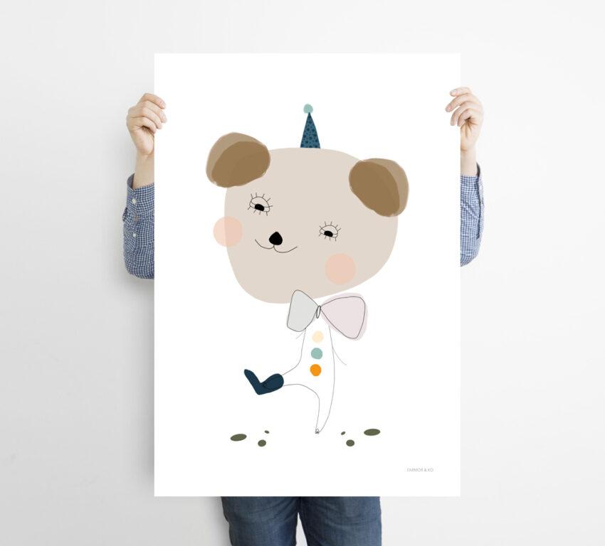 Bjørn børneplakat