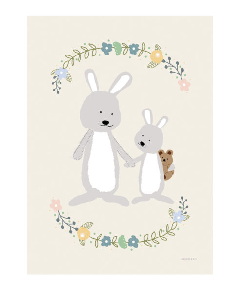 Kaniner børneplakat