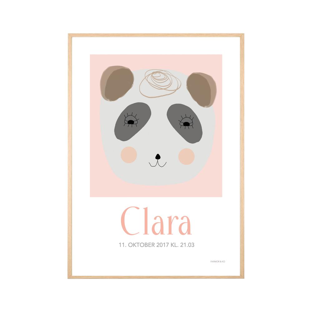 Navneplakat vaskebjørn pige