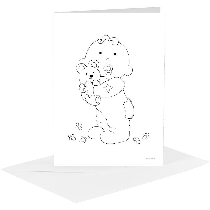 Lykønskningskort - baby