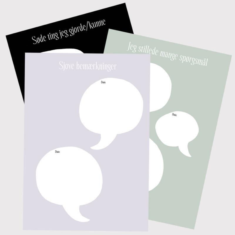 Barnets bog - ekstra sider - 3-pack