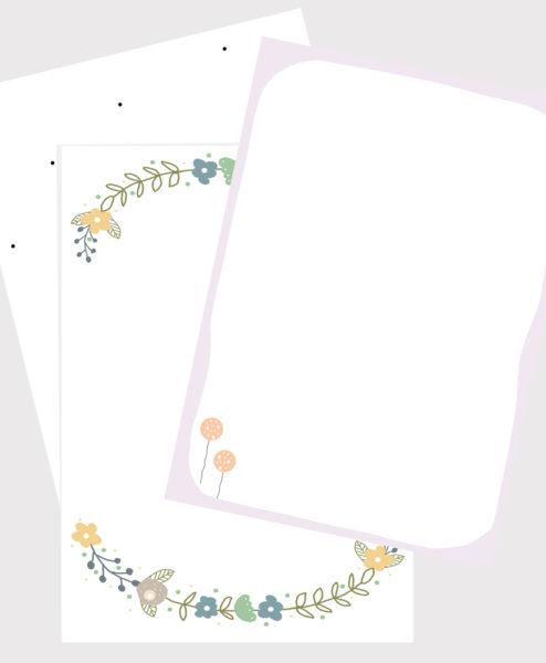 Barnets bog - ekstra sider - 3-pack (jul m.v)