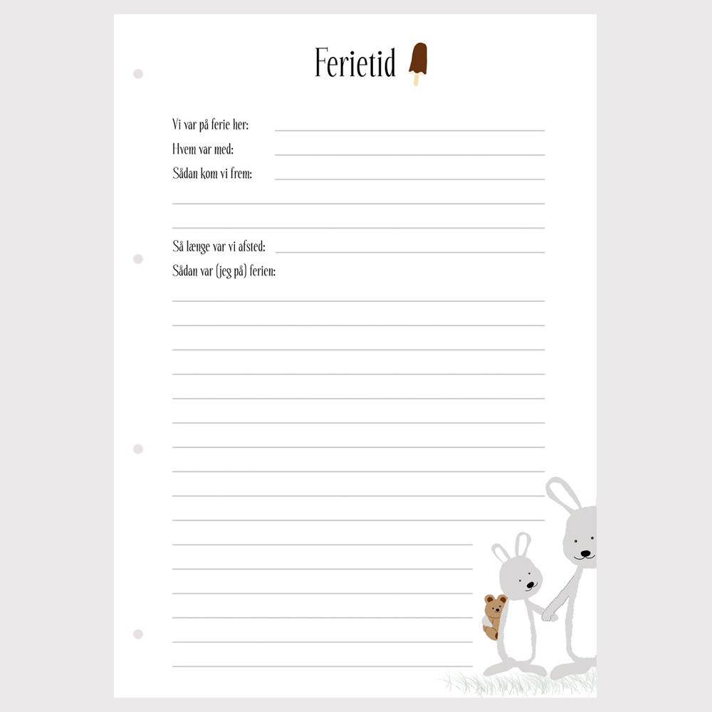Barnets bog - ekstra sider - Ferietid