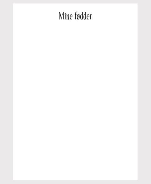 Barnets bog - ekstra sider - hænder og fødder