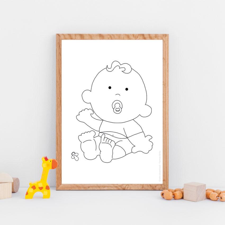 Gratis plakat siddende baby