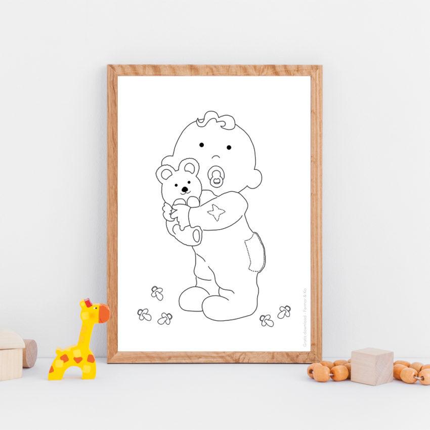 Gratis plakat stående baby