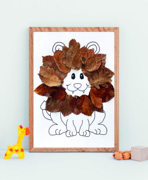 Gratis tegning - løve
