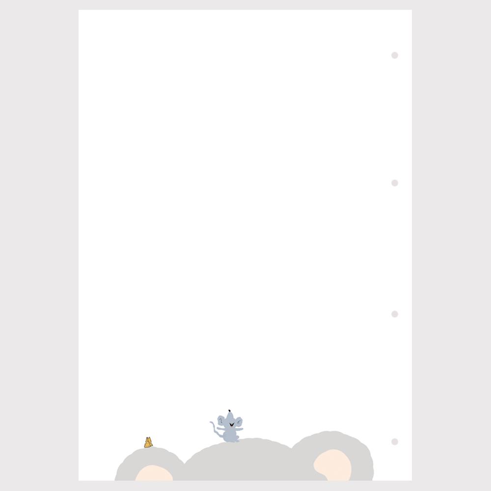 Barnet's bog - ekstra sider - blank m. bjørn