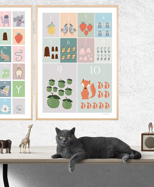 ABC og TAL plakat 50x70 SÆTPRIS
